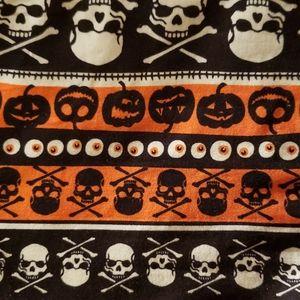 Striped Skull & Pumpkin Halloween Shirt
